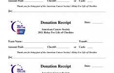 Relay For Life Pledge Form Donation Sheet Fundraising Sponsorship