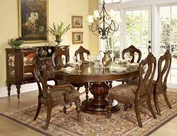 pottery barn round table dining room with hanging lamp