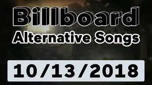 Billboard Modern Rock Chart Billboard Top 40 Alternative Songs October 13 2018