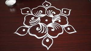 Simple Flower Rangoli Designs With Step By Step Beginners