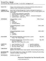 Microsoft Word Resume Template Download Microsoft Word Resume