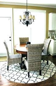 round rug under square dining table room for rules