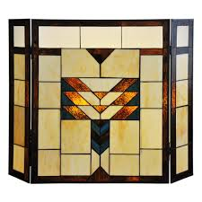 River of Goods Mission Stained Glass Fireplace Screen | eBay
