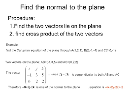 find the normal to the plane