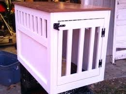 wooden dog crate furniture. Large Wood Dog Crate Furniture Whe Se Wooden End Table