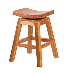 Buy Bare Decor Pagoda Counter Height <b>Solid Teak</b> Wood Swivel ...