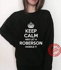 ROBERSON Surname Family Tree Birthday Reunion Shirt