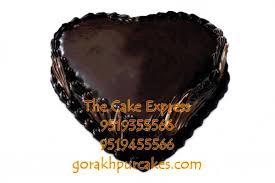 Heart Shape Chocolate Truffle Cake Gorakhpur Delivery Gorakhpur