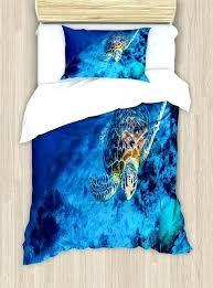 sea turtle bedding oceanic wildlife themed photo of in deep waters reef duvet set full size