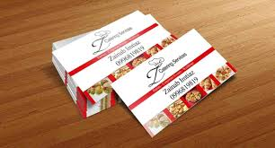 Visiting Card Design For Catering Services Z Catering Business Card Sample Business Cards Business