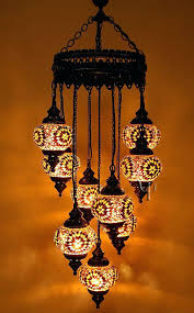 mosaic lamp 9 hanging glass chandelier lighting from ottoman time handmade item turkish light fixtures lamps