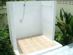 outdoor bathroom for pool shower company ideas