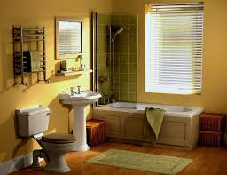 bathroom paint yellow. bathroom, yellow bathroom accent wall colors painted brown bamboo blinds clear glass paint r
