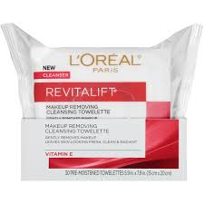 revitalift makeup removing cleansing towelettes