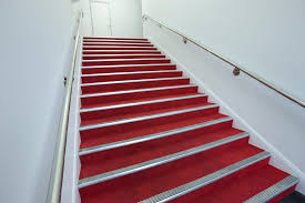 red carpet tiles for stairs