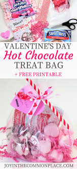 creative valentines day gifts valentines day hot chocolate treat bag free printable