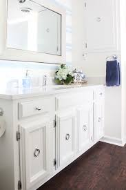 Guest Bathroom Remodel Delectable Blue And White Bathroom Remodel On A Budget