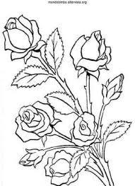 Disegno Colorare Boccioli Rosa Painting Inspirations Tappeto