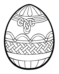 Printable Coloring Easter Eggs Drawn Egg Template 2 Free Printable