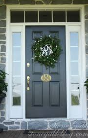 pretty white front door. Charming Christmas Wreath Front Door Pretty White