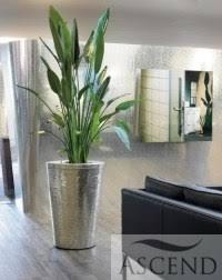 office plant displays. Metal Planter Hammered 14 Office Plant Displays