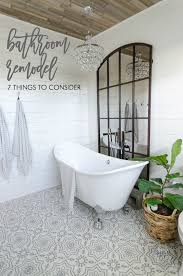 bathroom remodel tile floor. Bathroom Remodel Makeover White Shiplap Cement Tile Floors Clawfoot Tub Floor I