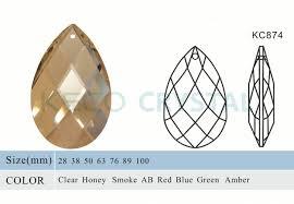 almond shape chandelier crystals ts kc874