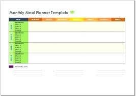 monthly meal planner template excel meal planner best weekly menu template ideas on menu planner
