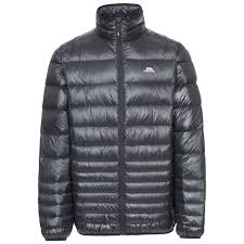 trespass angelo winter mens down jacket casual packable