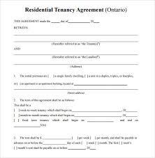 Sample Residential Rental Agreement 12 Examples Format