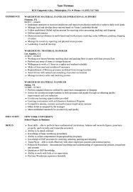 Package Handler Resume Sample Resume Work Template