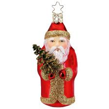 Santa Weihnachtsmann Rot 10cm Inge Glas Christbaumschmuck