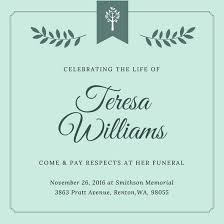 memorial service invitation funeral invitation template oyle kalakaari co