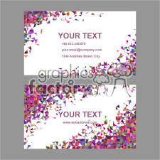 Vector Business Card Template Set 043 Clipart Royalty Free Clipart