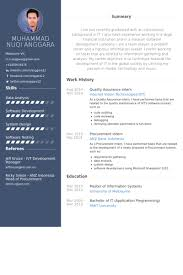 quality assurance intern resume samples qa resume template