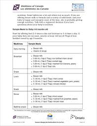 Free 12 Baby Feeding Schedule Samples Templates In Word Pdf