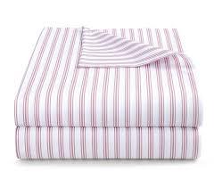ticking stripe rose pink duvet cover