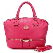 Coach Zip In Logo Large Fuchsia Satchels BJJ