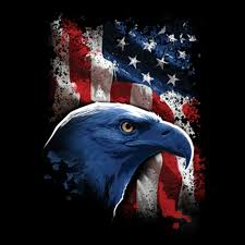 T-SHIRT CUSTOM DESIGN PATRIOTIC EAGLE USA AMERICA