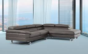 genuine and italian leather corner sectional sofas dark grey