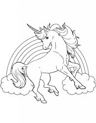 best printable coloring sheet of unicorn for kids