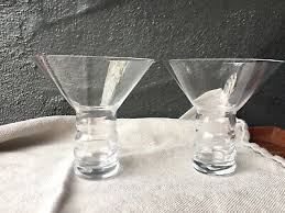 riedel bar o martini crystal glasses made germany 2 crystal tumblers in box for