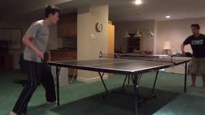 Extreme Ping Pong Extreme Basement Ping Pong Table Tennis 4 Youtube