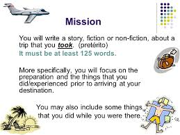travel essay mission you will write a story fiction or non  mission you will write a story fiction or non fiction about a trip