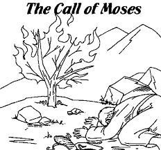 Small Picture The Call of Moses Burning Bush Moses Colouring Page Happy Colouring