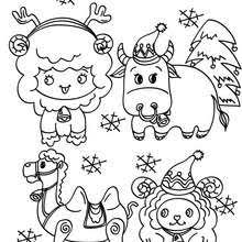 Small Picture CHRISTMAS CRIB coloring pages 39 Nativity scene printables for kids