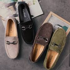 mens suede loafers 2019 casual shoes men fashion spring autumn mans moccasins genuine leather shoes mens