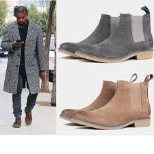 2019 new style men men s boots leather style euro 37 47 khaki grey brown black dark blue shoes