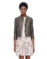 rebecca taylor green garment washed leather moto jacket fine workmanship womens jackets vs9jabw0upxi
