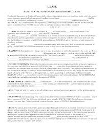 Basic Rental Agreement Template Simple Residential Lease Agreement Template